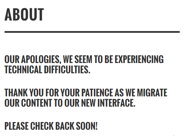 Denver Guardian's convenient About page state: OUR APOLOGIES, WE SEEM TO BE EXPERIENCING TECHNICAL DIFFICULTIES. THANK YOU FOR YOUR PATIENCE AS WE MIGRATE OUR CONTENT TO OUR NEW INTERFACE.