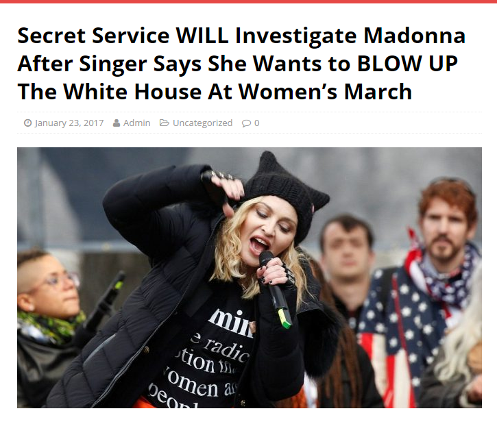 Madonna at the 2017 Women's March on Washington.