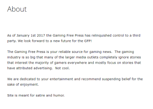 gamingfreepress.com - satire